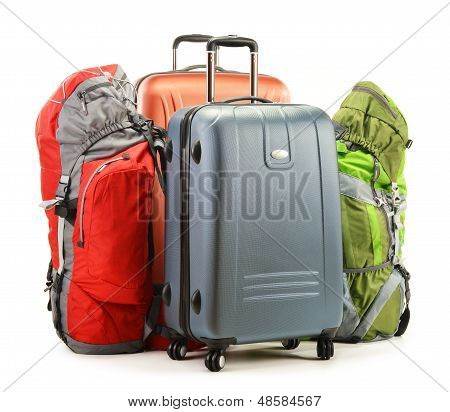 Luggage Consisting Of Large Suitcases And Rucksacks