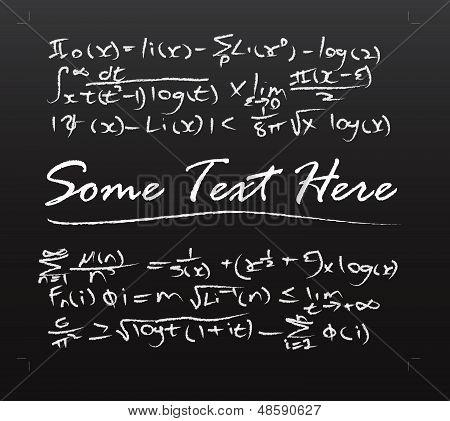 Mathematic equation on blackboard