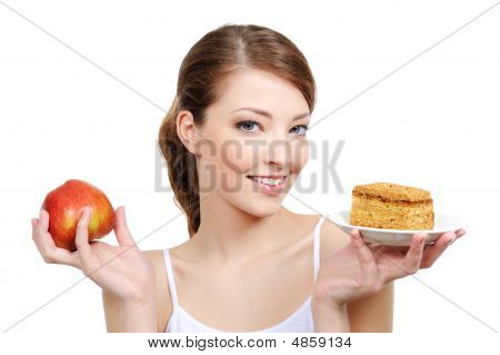 Beautiful Girl With Fruit
