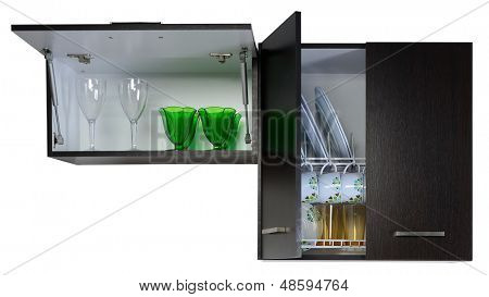 Kitchen cabinet. Isolated