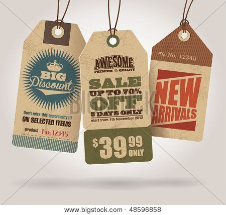 Estilo vintage venda Tags Design