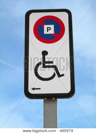 Disabled Parking Signal Left