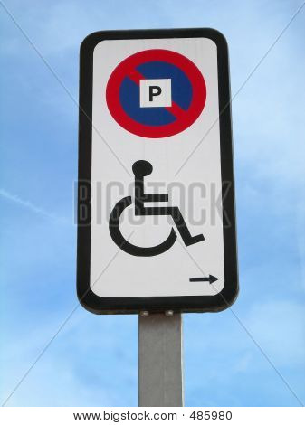 Disabled Parking Signal Right