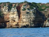 pic of vilamoura  - Picturesque Algarve coast between Lagos and the Cap Vincent - JPG