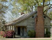 stock photo of natchez  - This is a home built in the 1800s along the Natchez Trace - JPG