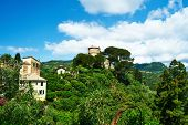 foto of castello brown  - Castello Brown near Portofino village on Ligurian coast in Italy - JPG