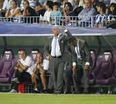 MALAGA, SPAIN. 19/09/2010.  Malaga's manager Jesualdo Ferreira during the La Liga match between CF M