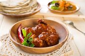 stock photo of curry chicken  - Indian curry chicken - JPG
