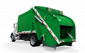 stock photo of trash truck  - Garbage Truck isolated on white background - JPG