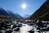 foto of hooker  - Mount Cook  - JPG