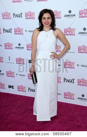 Mae Whitman at the 2013 Film Independent Spirit Awards, Private Location, Santa Monica, CA 02-23-13