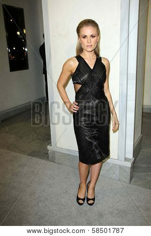 Anna Paquin at Tom Ford Cocktails In Support Of Project Angel Food Media. Tom Ford, Beverly Hills, CA 02-21-13