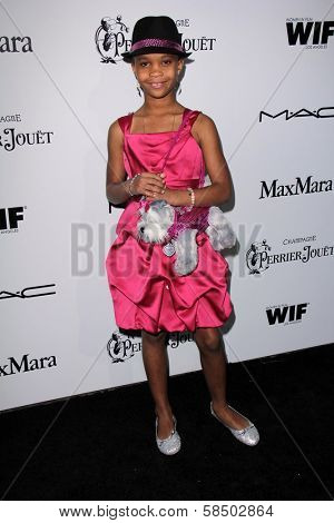 Quvenzhane Wallis at the Sixth Annual Women In Film Pre-Oscar Coctail Party, Fig & Olive, Los Angeles, CA 02-22-12