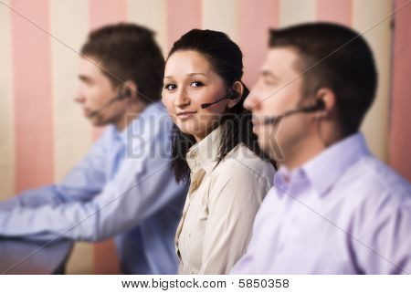 Nice Woman Customer Service And Her Team