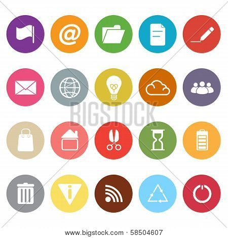 Web And Internet Flat Icons On White Background