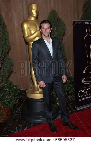 Bradley Cooper at the 85th Academy Awards Nominations Luncheon, Beverly Hilton, Beverly Hills, CA 02-04-13