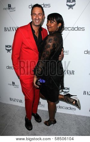 Christos Garkinos, Manouschka Guerrier at Harper's Bazaar Celebrates The Launch Of The Dukes of Melrose, Sunset Tower, West Hollywood, CA 02-28-13