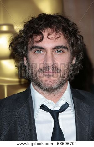 Joaquin Phoenix at the 85th Academy Awards Nominations Luncheon, Beverly Hilton, Beverly Hills, CA 02-04-13