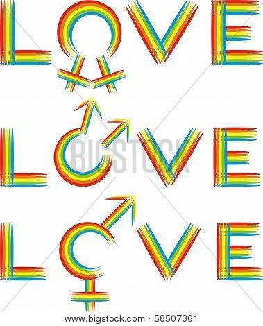 love - gender rainbow