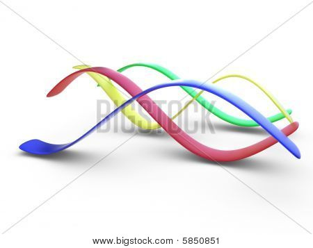 Colorful 3D Curves