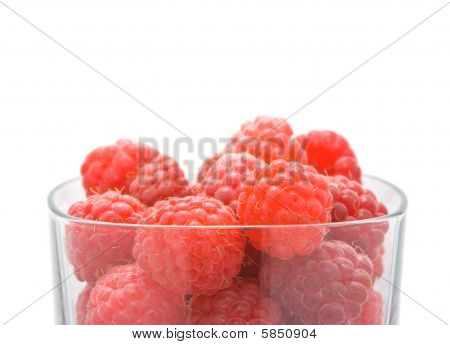 Raspberries in glass