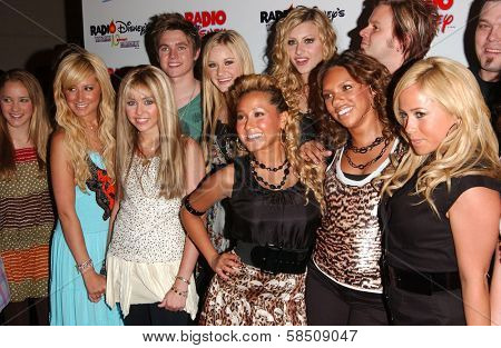 ANAHEIM - JULY 22: Emily Osment, Ashley Tisdale, Jesse McCartney, Miley Cyrus, Aly and AJ Michalka, The Cheetah Girls at the Radio Disney Totally 10 Birthday Concert at Anaheim Pond on July 22, 2006.
