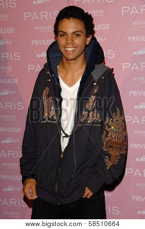 HOLLYWOOD - AUGUST 18: Evan Ross at the party celebrating the launch of Paris Hilton's Debut CD