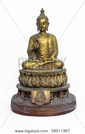 Buddha statue on white background - isolated, Thailand