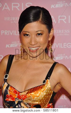 HOLLYWOOD - AUGUST 18: Adrienne Lau at the party celebrating the launch of Paris Hilton's Debut CD