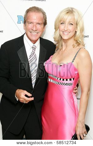 WEST HOLLYWOOD - AUGUST 27: Pat O'Brien and Lara Spencer at the 10th Annual Entertainment Tonight Emmy Party Sponsored by People in Mondrian August 27, 2006 in West Hollywood, CA.