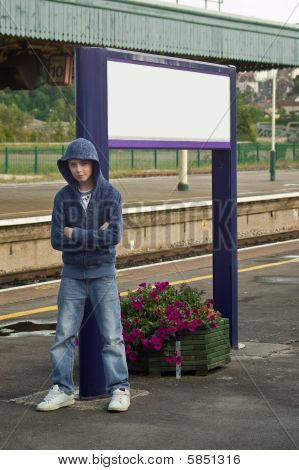 Hoody / Thug At Train Station