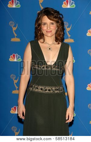 LOS ANGELES - AUGUST 27: Tina Fey in the Press Room at the 58th Annual Primetime Emmy Awards in The Shrine Auditorium August 27, 2006 in Los Angeles, CA.