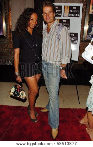 HOLLYWOOD - AUGUST 15: Monique Coleman and Louis van Amstel at the Los Angeles Premiere of