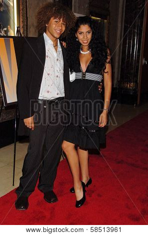 HOLLYWOOD - AUGUST 15: Corbin Bleu and Cinthya Mendez at the Los Angeles Premiere of