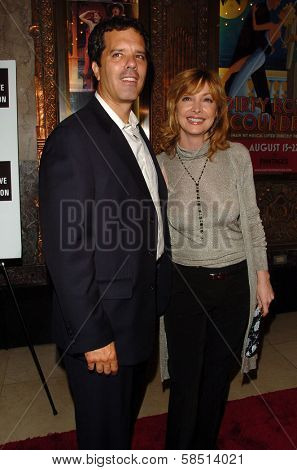 HOLLYWOOD - AUGUST 15: Sharon Lawrence and her husband Tom at the Los Angeles Premiere of