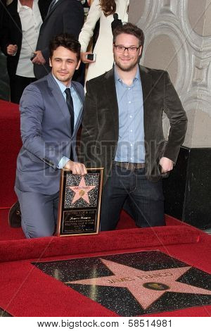 James Franco, Seth Rogen at the James Franco Star on the Walk of Fame Ceremony, Hollywood, CA 03-07-13