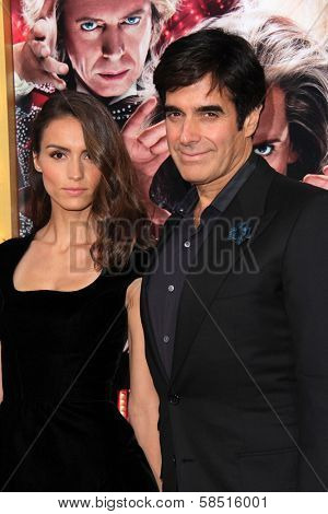 Olivia Wilde and David Copperfield at the World Premiere of