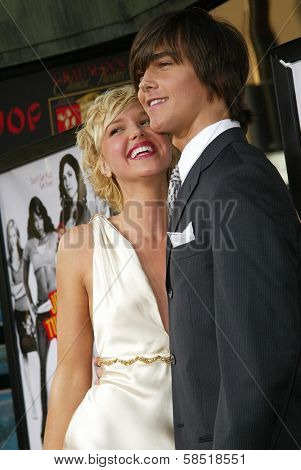 HOLLYWOOD - JULY 25: Arielle Kebbel and Christian Kebbel at the premiere of John Tucker Must Die on July 25, 2006 at Grauman's Chinese Theatre in Hollywood, CA.