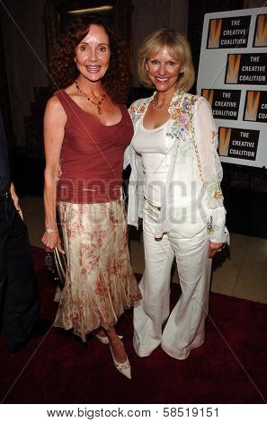 HOLLYWOOD - AUGUST 15: Jacklyn Zeman and Marla Pennington at the Los Angeles Premiere of Dirty Rotten Scoundrels on August 15, 2006 at Pantages Theatre in Hollywood, CA.