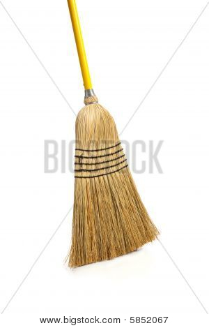 Corn Broom On White Background