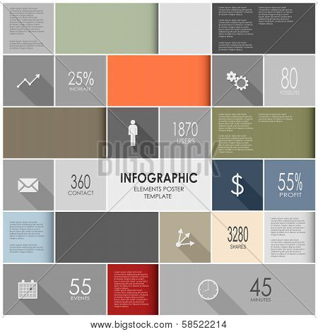 Abstract colorful info graphic elements poster template
