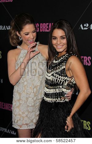 Ashley Benson, Vanessa Hudgens at the Los Angeles Premiere of