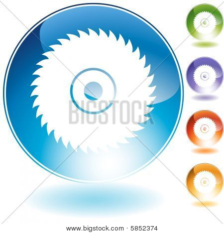 circular saw blade crystal