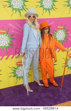 Kesha and brother Louie Sebert at Nickelodeon's 26th Annual Kids' Choice Awards, USC Galen Center, Los Angeles, CA 03-23-13