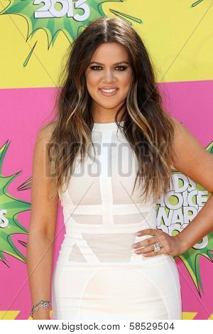 Khloe Kardashian at Nickelodeon's 26th Annual Kids' Choice Awards, USC Galen Center, Los Angeles, CA 03-23-13