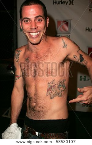 HOLLYWOOD - AUGUST 02: Steve-O at Saturn's X-Games 12 Party at 6820 Hollywood Blvd on August 02, 2006 in Hollywood, CA.
