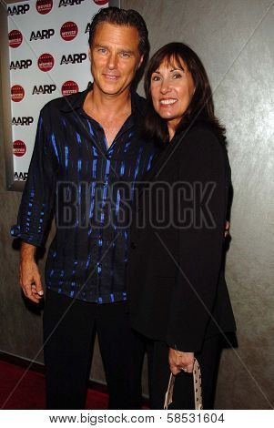 HOLLYWOOD - AUGUST 01: Greg Evigan and wife Pam at the Los Angeles Premiere of