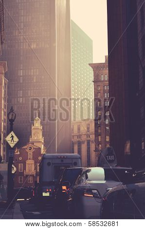 Retro Styled Downtown Usa
