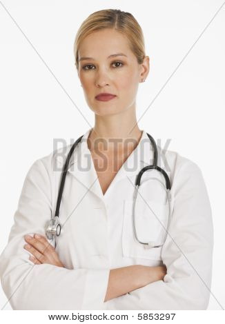 Serious Female Doctor