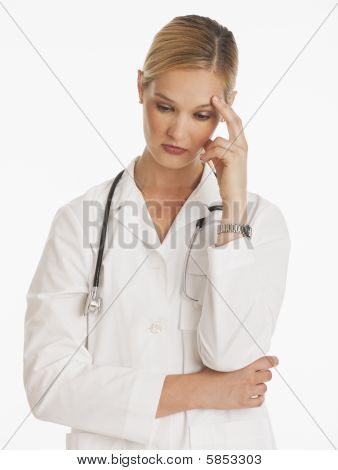 Tired Female Doctor